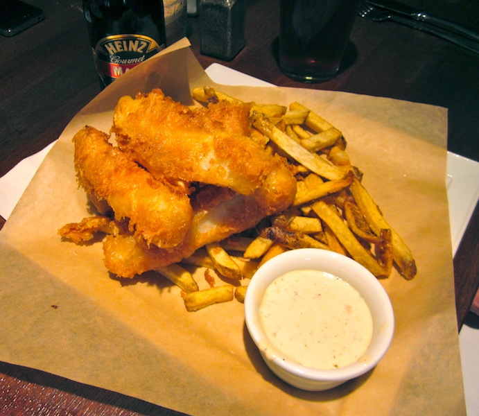 Tiny Kitchen Fish And Chips: The League Kitchen & Tavern