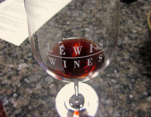 Lewis Wines wineglass