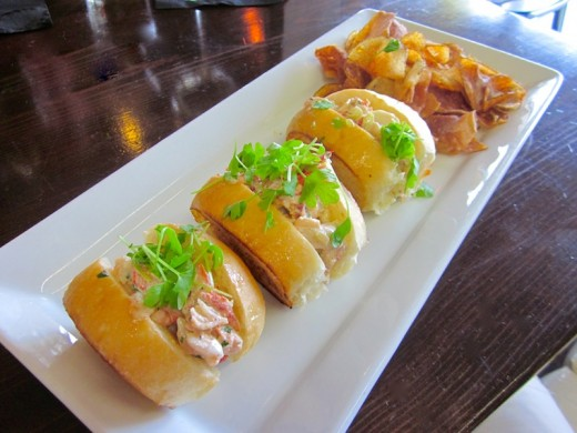 lobster rolls at Fore Lakeway, near Lakeway, Texas