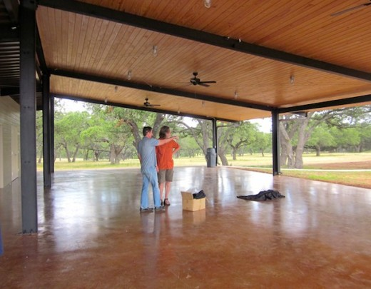 party pavilion at the new Hye Meadow Winery in Hye, Texas