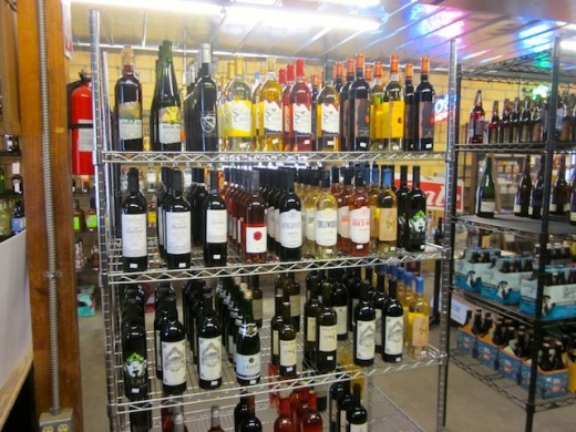 local texas wines at the Hye Market in Hye, Texas