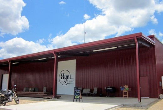 the new Hye Meadow Winery in Hye, Texas