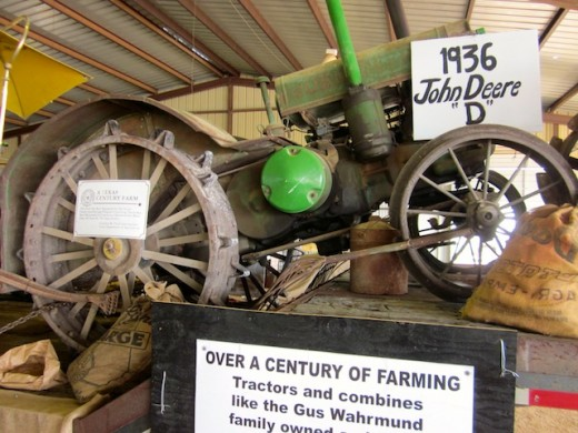 Historic farm exhibit at the Gillespie County Fair in Fredericksburg, texas