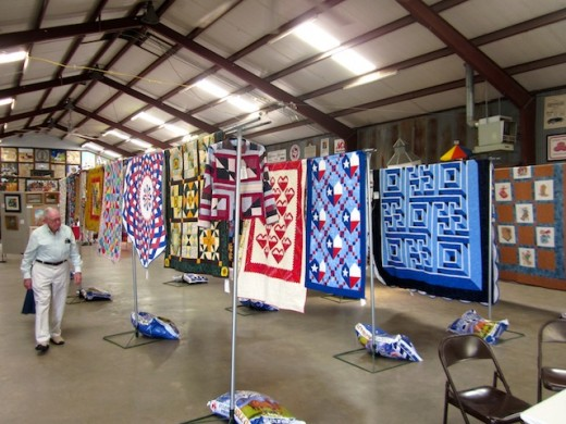 quilt judging at the Gillespie county fair in Fredericksburg, texas