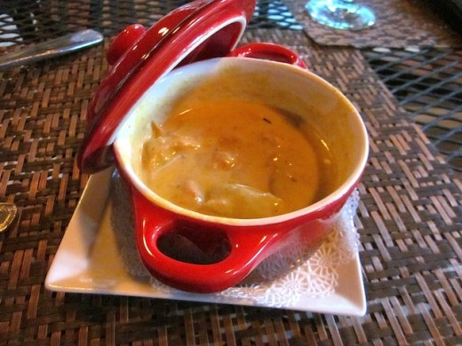 pheasant-sausage chowder at the Cabernet Grill in Fredericksburg, texas
