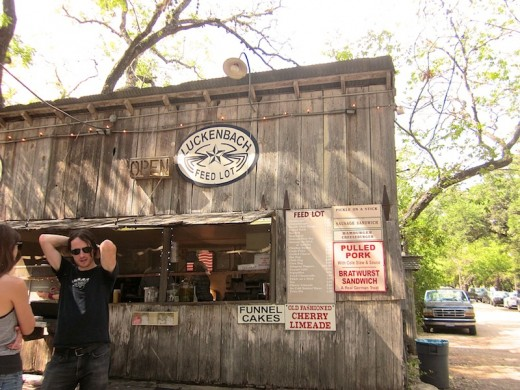The food stand in Luckenbach, Texas