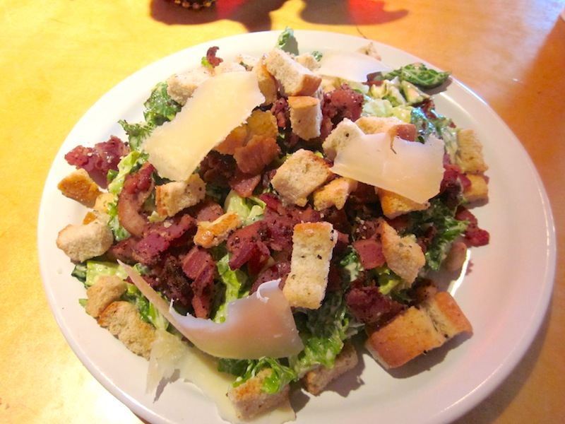 Caesar salad covered with bacon at the new Briarcliff Bistro & Bacon ...