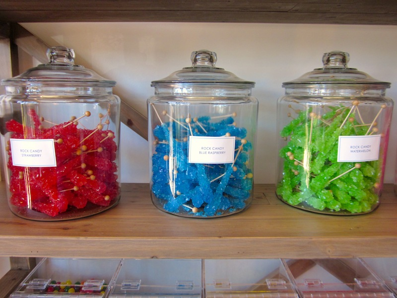 a candyfilled counter at the new galleria store the candy jar in old fashioned
