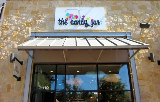 The front of the new Galleria store, The Candy Jar, in Bee Cave, Texas
