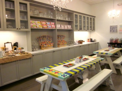 The private party room at the new Galleria store, The Candy Jar, in Bee Cave, Texas