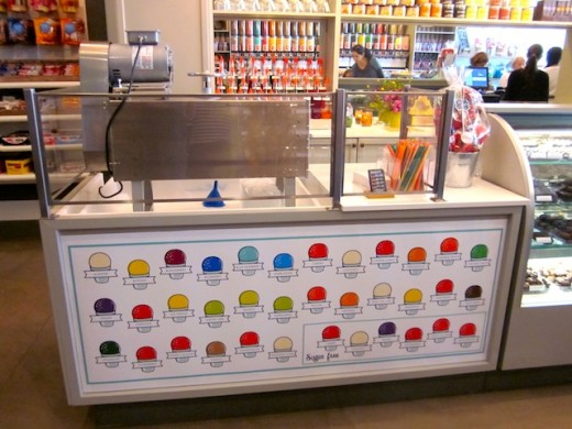 Snowball counter at the new Galleria store, The Candy Jar, inn Bee Cave, Texas.