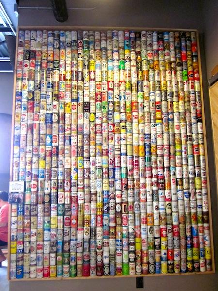 Beer wall at the new Schmidt Family Barbecue in Bee Cave, Texas