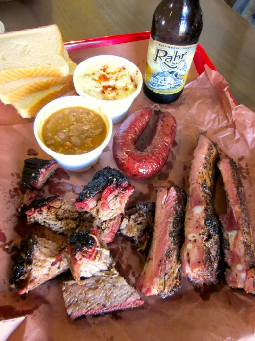 Barbecue at the new Schmidt Family Barbecue in Bee Cave, Texas