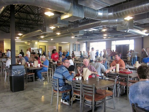 Dining room at the new Schmidt Family Barbecue in Bee Cave, Texas