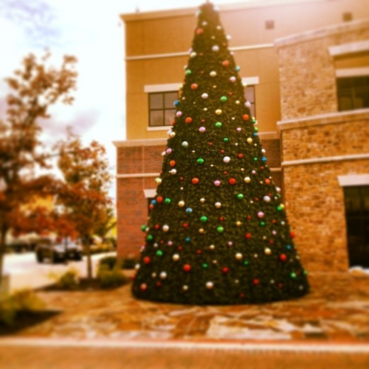 Christmas tree lighting at the Hill Country Galleria in Bee Cave, Texas