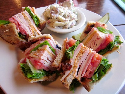 club sandwich at the new East Main Grill in Johnson City, Texas