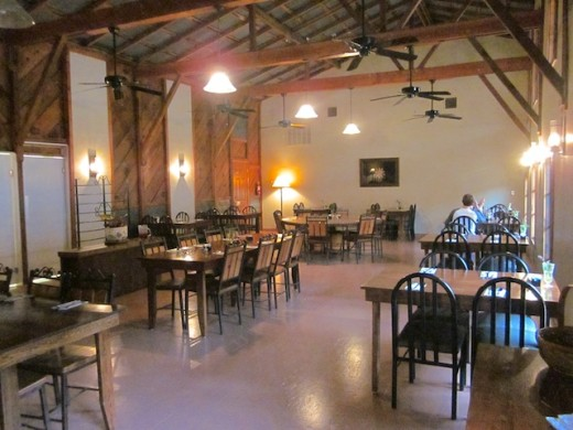 Back dining room at the new East Main Grill in Johnson City, Texas