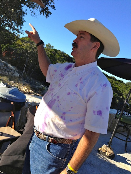 Co-owner Chip at the new Hawk's Shadow winery near Dripping Springs, Texas