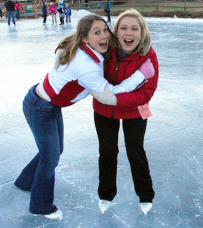Ice-skating at Barton Creek Resort near Austin, Texas