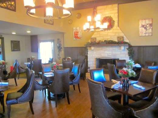 Dining room at the new Homespun Kitchen in Dripping Springs, Texas