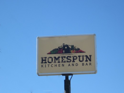 Sign for the new Homespun Kitchen in Dripping Springs, TX