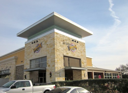 front of the new Fuddrucker's in Bee Cave, Texas