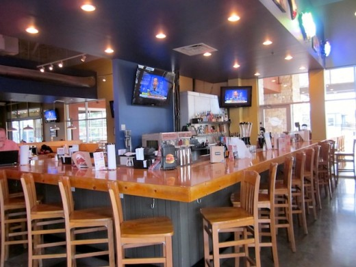 Full bar available at the new Fuddruckers in Bee Cave, Texas