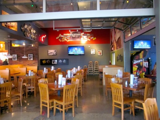 Dining room at the new Fuddrucker's in Bee Cave, Texas