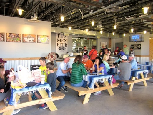 Tasting room in the new Twisted X Brewing Company in Dripping Springs, Texas