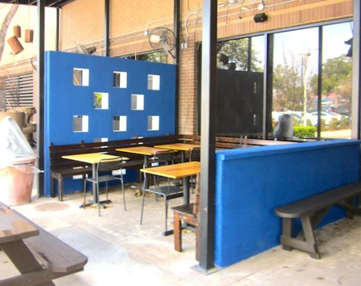 Patio at the new Noble Sandwiches, formerly The Noble Pig