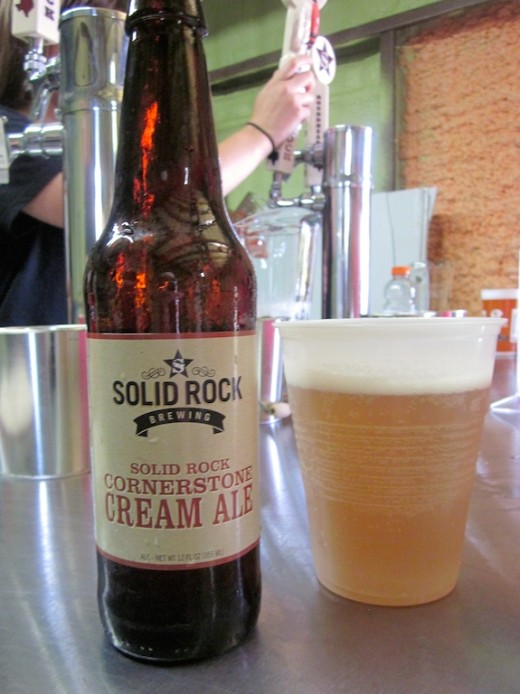 Cream ale from Solid Rock Brewing in Spicewood, Texas