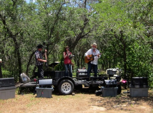 Lohman's Crossing Band plays the grand opening party at Solid Rock Brewing in Spicewood, Texas