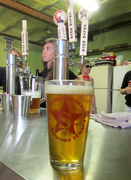 The Dauntless IPA at Solid Rock Brewing in Spicewood, Texas