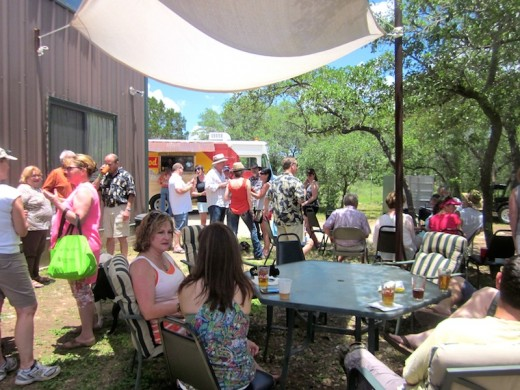 grand-opening party at Solid Rock Brewing in Spicewood, Texas