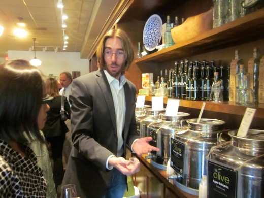 Owner Brad at the new We olive & wine bar at the Hill Country Galleria in Bee Cave, Texas