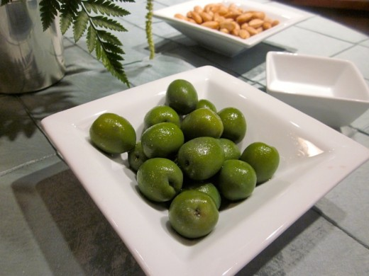 Sicilian olives at the new We Olive wine bar at the Hill country Galleria in Bee Cave, Texas