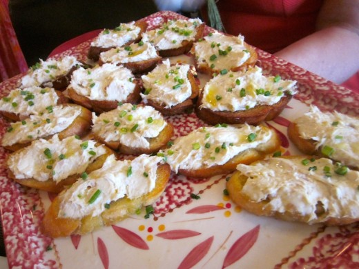 creamy smoked albacore spread on toasts at the new We olive & wine bar at the Hill Country Galleria in Bee Cave, Texas