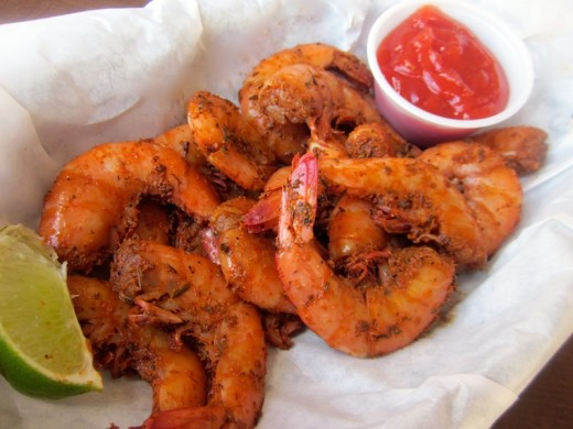 peel and eat shrimp at the new Sundancer Grill near Lakeway, texas