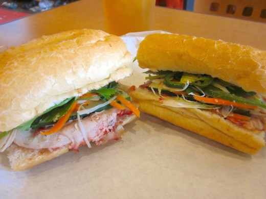 banh mi at the new simply pho house restaurant in bee cave, tx