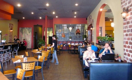 The dining room at Simply Pho House