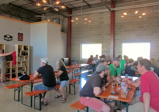 New taproom at Real Ale Brewing in Blanco, Texas