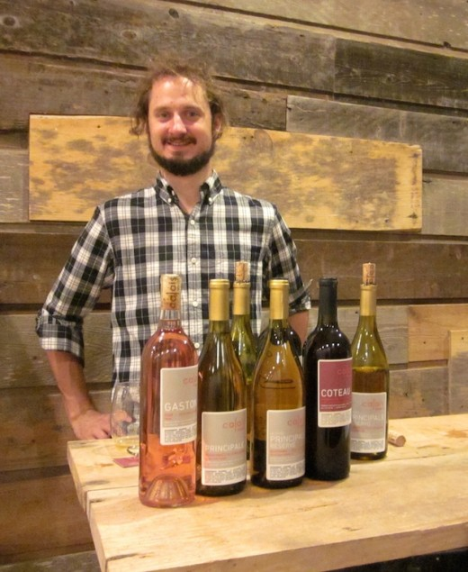 Ben Calais of Calais Winery on the 290 wine trail