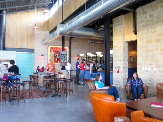 The new tasting room for Deep Eddy Vodka in Dripping Springs, Texas