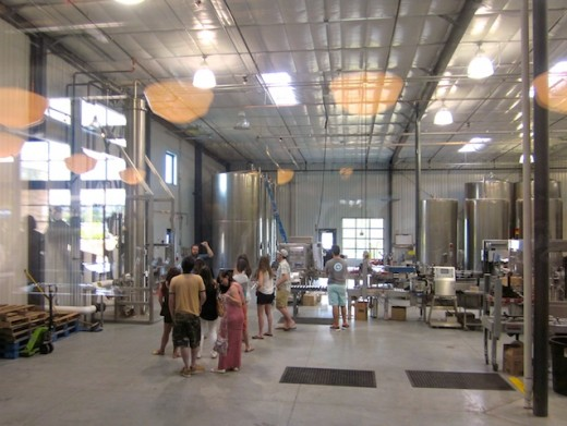 Tour of the distilling facilities at the new Deep Eddy Vodka distillery in Drippings, Texas