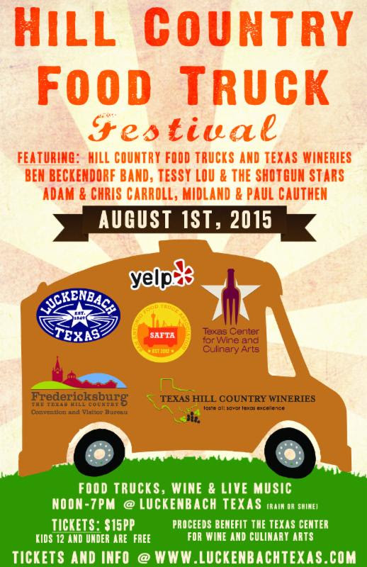 hill country food truck festival in luckenbach, texas