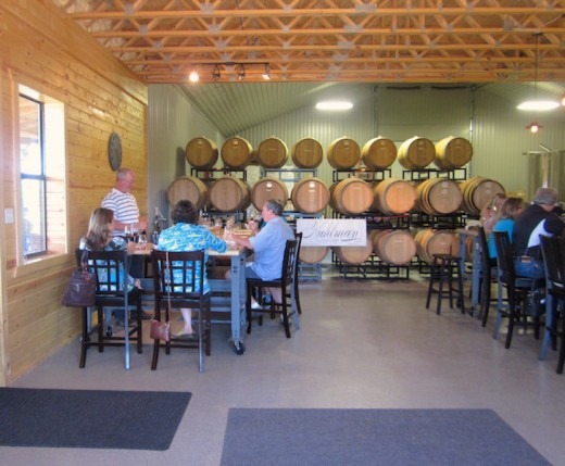 Tasting room at the new Kuhlman Cellars winery near Fredericksburg, TX